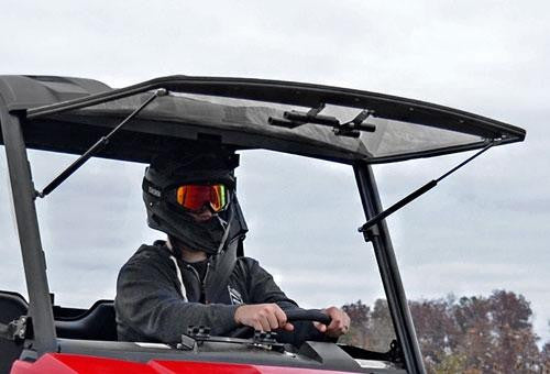 Polaris Ranger Midsize Scratch Resistant Flip Windshield