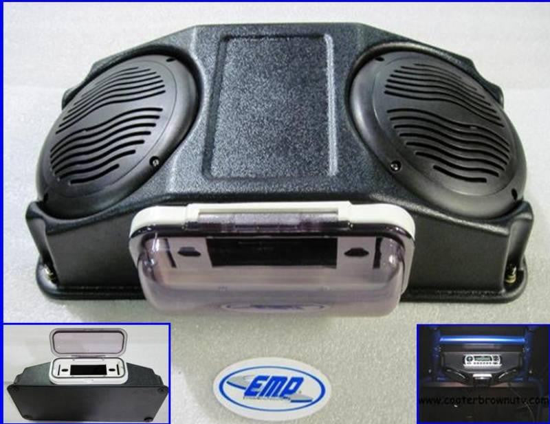 Stereo Pod w/ Speakers and Marine Cover - NO STEREO