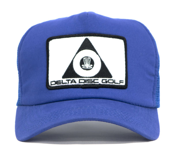 Delta Disc Golf Patch Curved Bill Foam Puff Trucker Cap