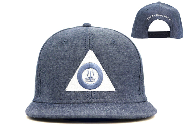 Delta Disc Golf Flat Bill Snap Back Large Triangle Cap