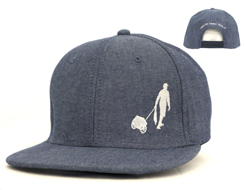 Delta Cart Flat Bill Snap Back Cap