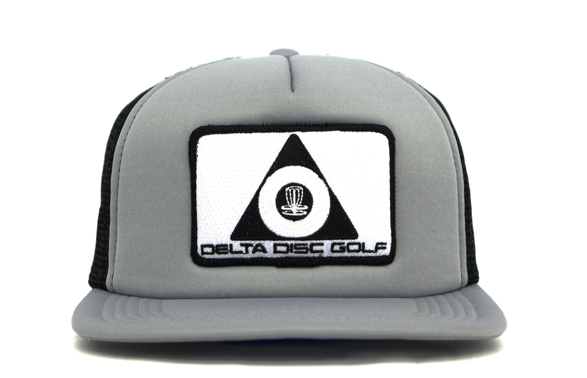 10009a75e0c Delta Disc Golf Patch Flat Bill Foam Puff Trucker Cap