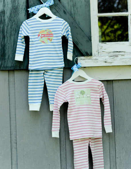 Pastel Striped 2-Pc. Organic Cotton Pjs