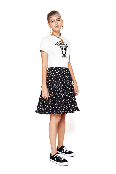 Tiered Floral-Print Skirt