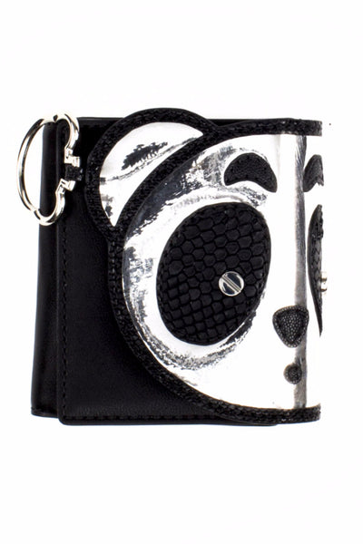 PANDA SADDLE BI-FOLD WALLET