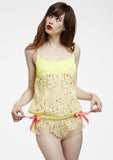 Mesh-and-Lace Flutter Cheeky