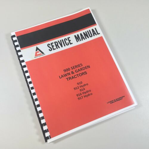 Allis Chalmers 917 Lawn and Garden Tractor Operators Manual