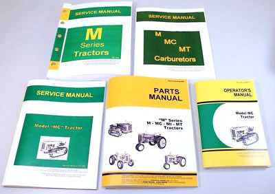 SERVICE MANUAL SET FOR JOHN DEERE MC TRACTOR CRAWLER PARTS OPERATOR CATALOG