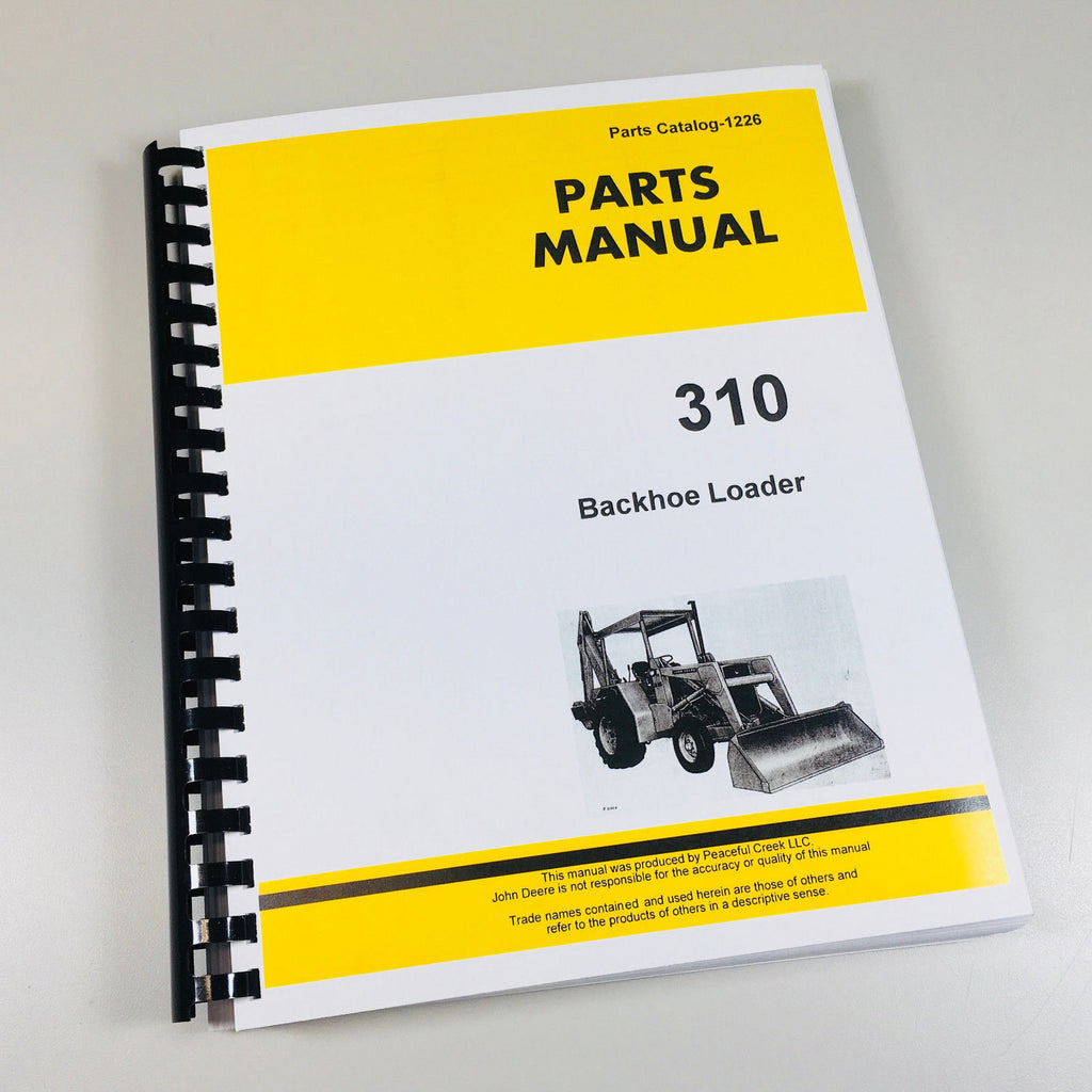 John Deere Tractor With Loader Igcd0517 Parts Manual Guide