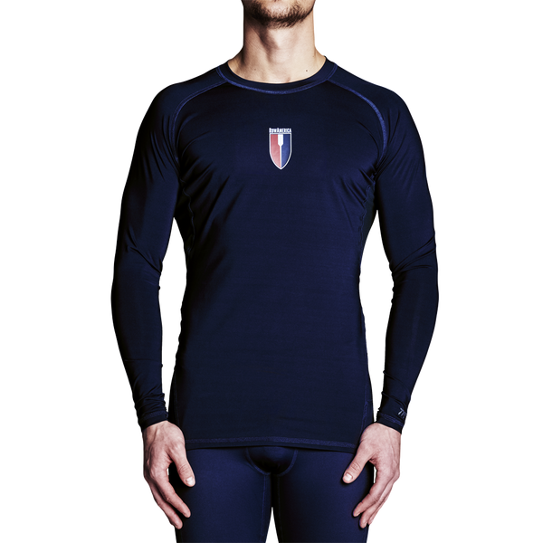 RowAmerica Mens Titanium Long Sleeve Top (Lightweight Compression)