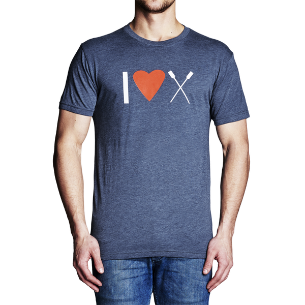 RowAmerica Mens I (Heart) Rowing T-Shirt