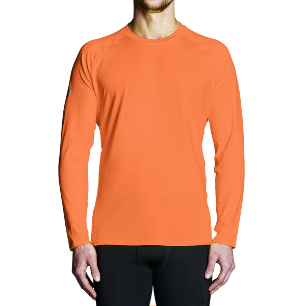 Men's Rowing Apparel - Orange Regatta Long Sleeve Training Top