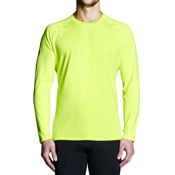 Men's Rowing Apparel - Yellow Regatta Long Sleeve Training Top