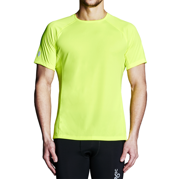 High Visibility Shirts - Men's Yellow Regatta Short Sleeve Training Top