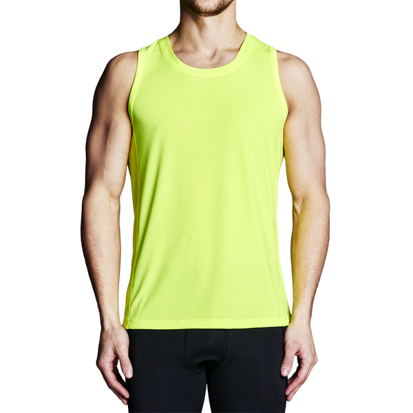High Visibility Shirts - Men's Yellow Rowing Tank Top