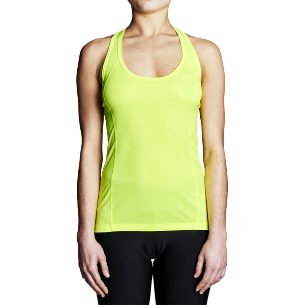 High Visibility Rowing Apparel - Women's Yellow Regatta Rowing Tank Top