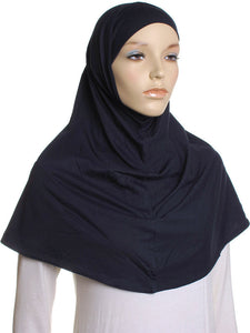 Navy Plain Cotton 2 Pce Al Amira Hijab