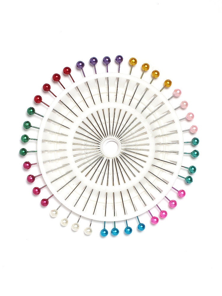 Multi Pearl Heads Pin Wheel - Hijab Store Online