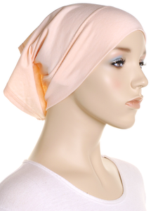 Light Apricot Plain Cotton 2 Pce Al Amira Hijab - Hijab Store Online