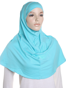 Light Teal Plain Cotton 2 Pce Al Amira Hijab