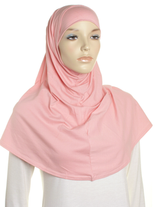 Peach Mauve Plain Cotton 2 Pce Al Amira Hijab