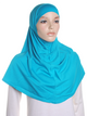 Persian Blue Plain Cotton 2 Pce Al Amira Hijab