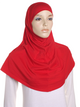 Red Plain Cotton 2 Pce Al Amira Hijab