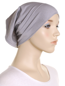 Silver Grey Plain Cotton 2 Pce Al Amira Hijab
