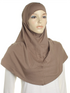 Taupe Brown Plain Cotton 2 Pce Al Amira Hijab