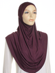 Berry Plain Pull On Style Al Amira Hijab