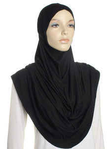 Black Plain Pull On Style Al Amira Hijab