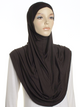 Chocolate Plain Pull On Style Al Amira Hijab