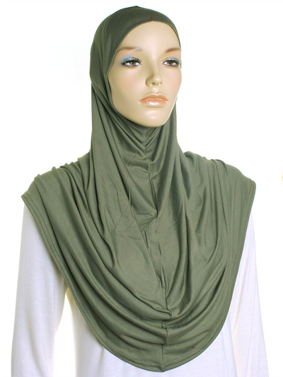 Light Khaki Plain Jersey Al Amira Hijab
