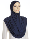 Navy Plain Pull On Style Al Amira Hijab