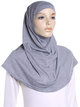 Grey Marl Plain Cotton 2 Pce Al Amira Hijab