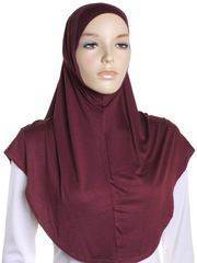 Burgundy Sports Al Amira Hijab