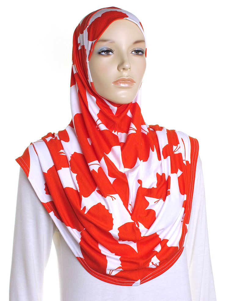 Red Butterfly Al Amira Hijab