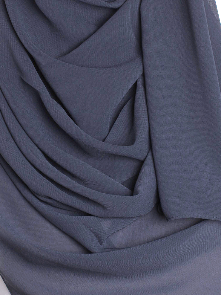 Anchor Grey Chiffon Hijab
