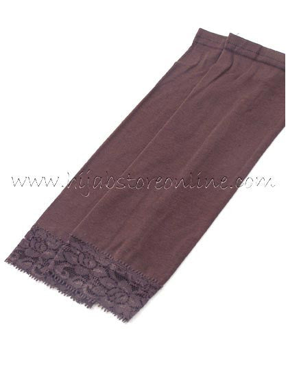 Brown Forearm Cotton Sleeves - Hijab Store Online