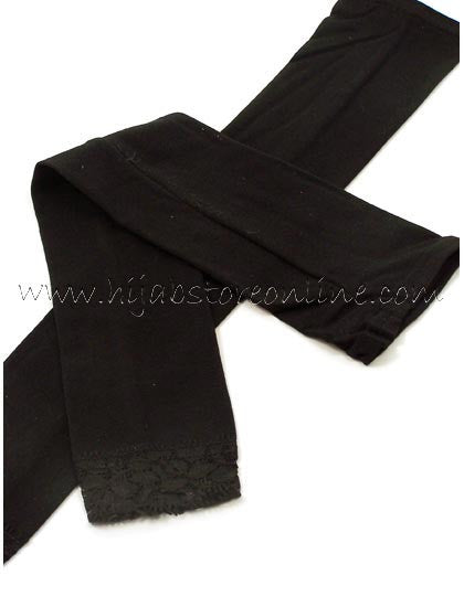 Black Full Length Cotton Arm Sleeves - Hijab Store Online