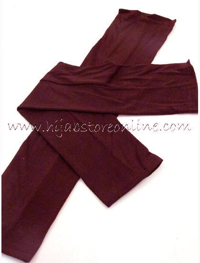 Burgundy Full Length Cotton Arm Sleeves - Hijab Store Online