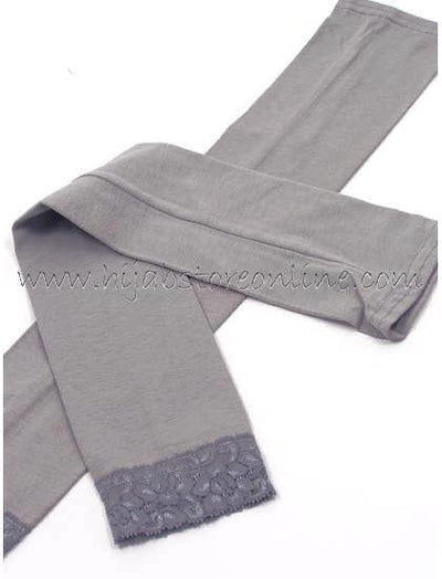 Grey Full Length Cotton Arm Sleeves - Hijab Store Online