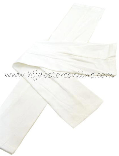 Cream Full Length Cotton Arm Sleeves - Hijab Store Online