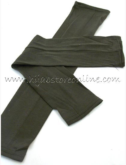 Olive Full Length Cotton Arm Sleeves - Hijab Store Online