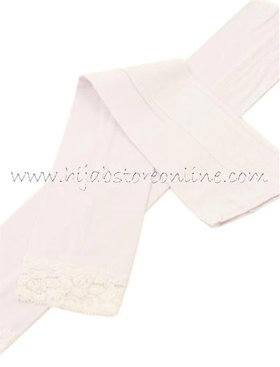 White Full Length Cotton Arm Sleeves - Hijab Store Online