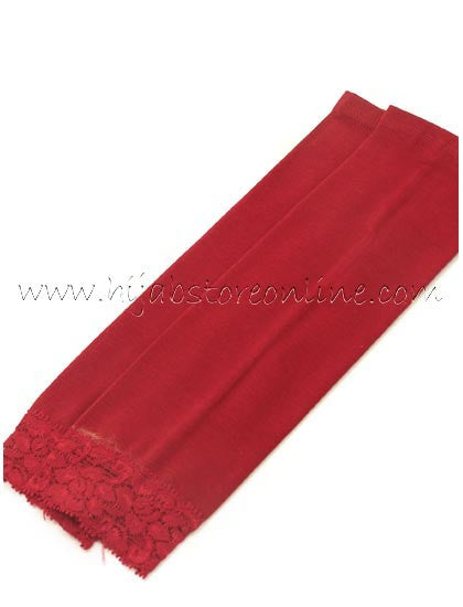 Maroon Forearm Cotton Sleeves - Hijab Store Online