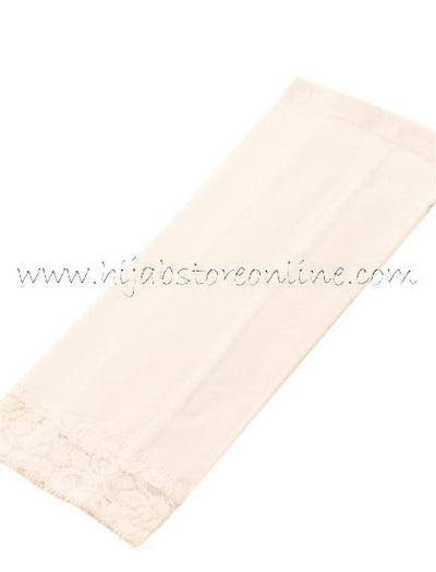 White Forearm Cotton Sleeves - Hijab Store Online