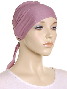 Antique Mauve Plain Tie Back Bonnet - Hijab Store Online