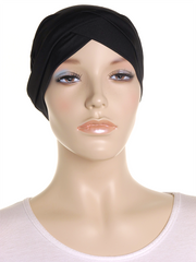 Black Criss Cross Turban Hat - Hijab Store Online