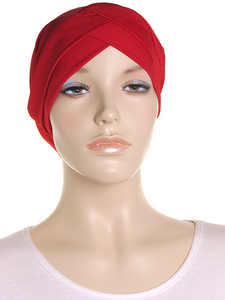 Red Criss Cross Turban Hat - Hijab Store Online